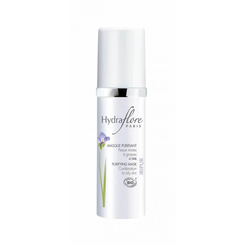 Masque Purifiant Bio Iripur d'Hydraflore peaux mixtes à grasses à l'Iris