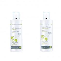 Duo Lait + Lotion Bio visage peau normale à sèche Centella