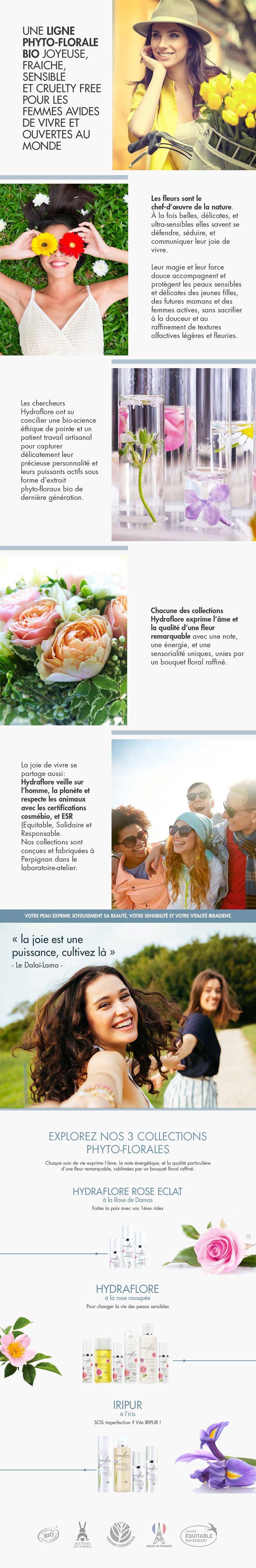 Hydraflore produits de beauté bio et naturels