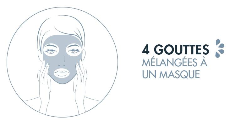 Sérum Bio Synergie Camphrée Centella mélangé au masque Camphré